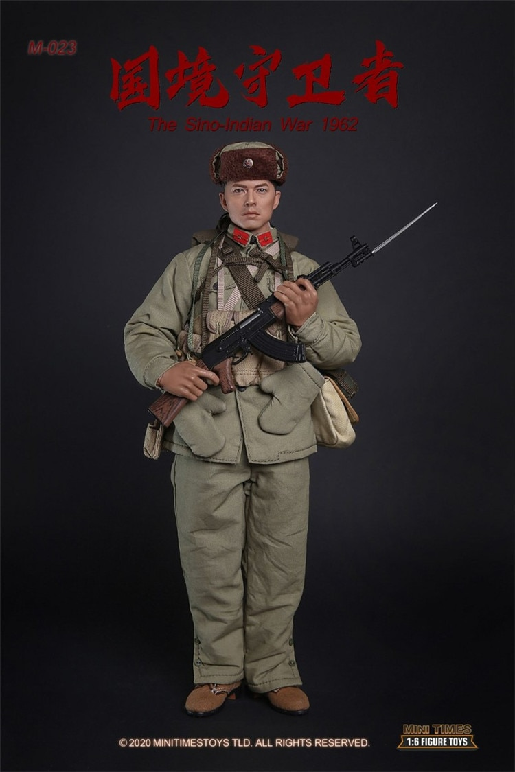 """1/6 Scale Collectible Figurine 12"""" Male Figure Doll Chinese Border Guardian Soldier 1962 Plastic Model Toys Gift"""