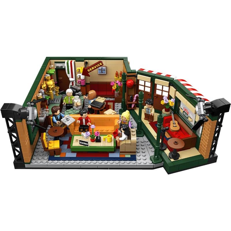 2020 New Classic 1228pcs TV American Drama Friends Central Perk Cafe Fit lepinings Friends 21319 Model Building Block Bricks