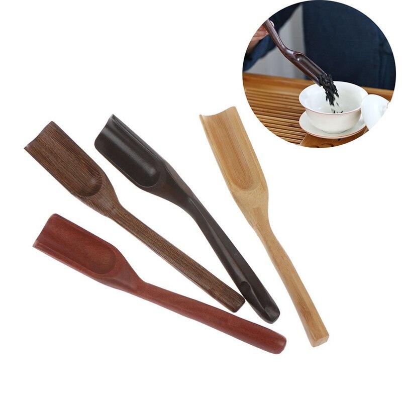 Estilo retro chinês portátil colher de chá de bambu natural colher delicada para chá molho de mel café chá folhas titular seletor