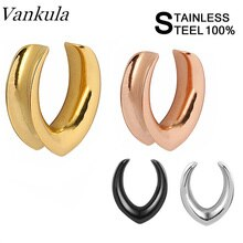 Vankula Wholesale New Saddle Ear Tunnel Plug Piercing Expander Stretchers Fashion Body Piercing Jewelry