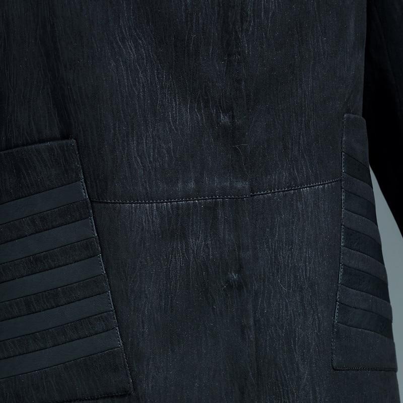 Women Black Faux Leather Jacket XL-5XL New Middle-aged Ladies Retro Loose Faux Sheepskin Trench Coats Large Size Female Clothing enlarge