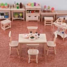 Miniature non peint Table et chaises ensembles meubles vie cuisine décor 112