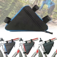 triangle bicycle mtb bike bag cycling front tube frame pouch