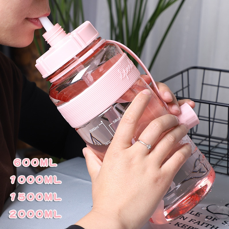 1L Large Capacity Sports Water Bottles Portable Plastic Outdoor Camping Picnic Bicycle Cycling Climb