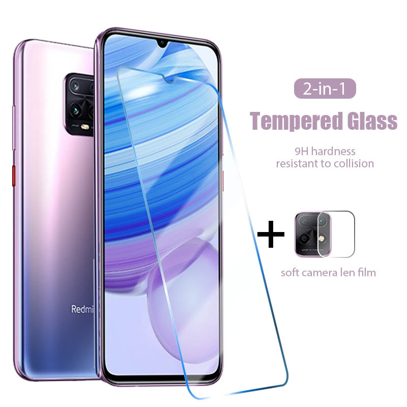 2 in 1 Tempered Screen Protector For Redmi Note 10 9 8 7 6 Pro Max Protective Len Film For Redmi Note 10S 9S 9T 5G 8T Glass