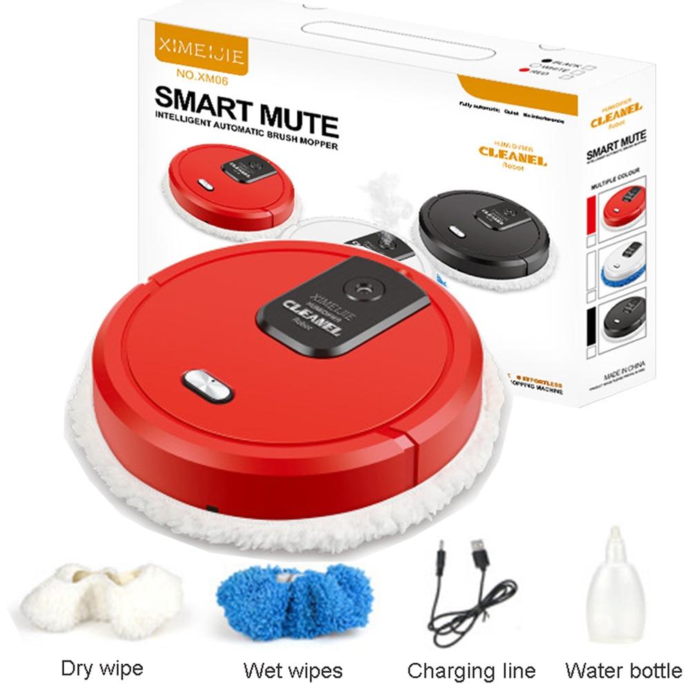 جهاز آلي لتنظيف الأتربة المماسح الأرضية USB شحن مكنسة كهربائية دوارة آلة التطهير الرطوبة رذاذ ذكي مكانس كهربائية للكنس