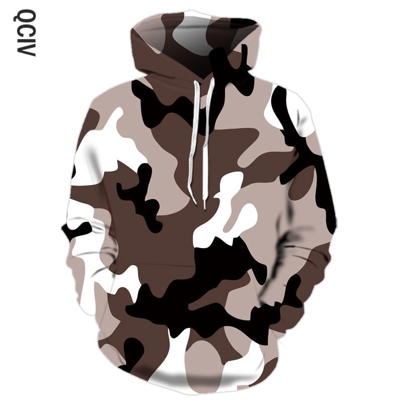 Autumn Camouflage Print Hoodie Men's Hip Hop Drawstring Pullover Street Casual Camouflage Military Training 3D Hoodie Sweatshirt