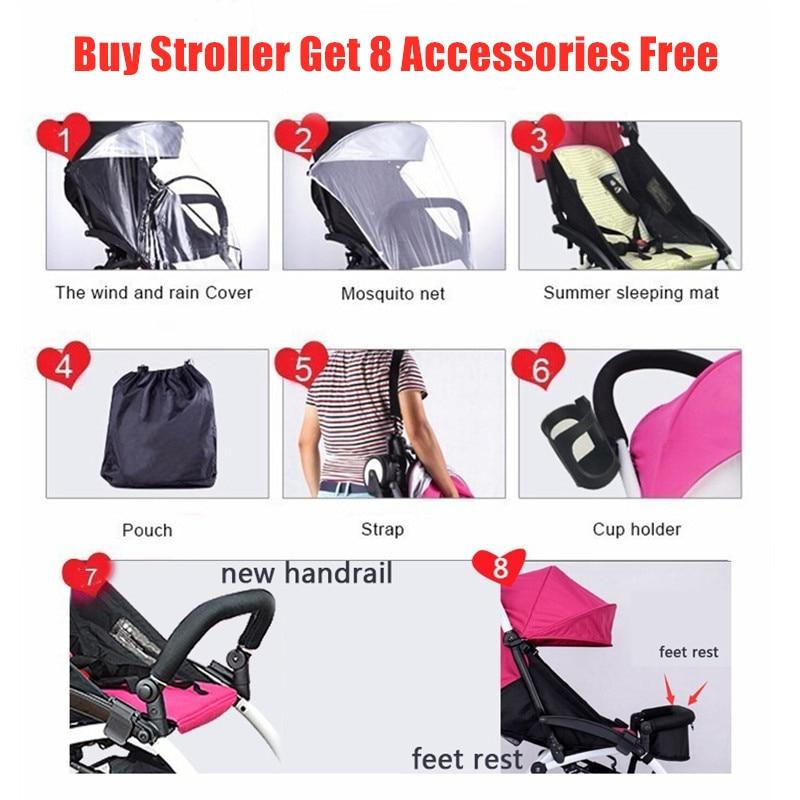 2021 New Upgrade Baby Stroller Wagon Portable Folding Baby Pushchair Lightweight Pram Baby Carriage Baby Car enlarge