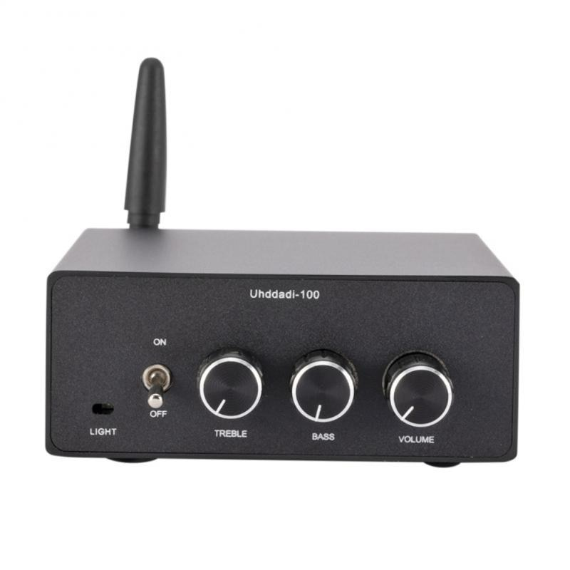 HiFi ستيريو بلوتوث صغير 5.0 فراغ أنبوب Preamp استقبال USB لاعب 2 قناة فئة D الصوت مضخم ضوت سماعات الأذن 100 واط * 2
