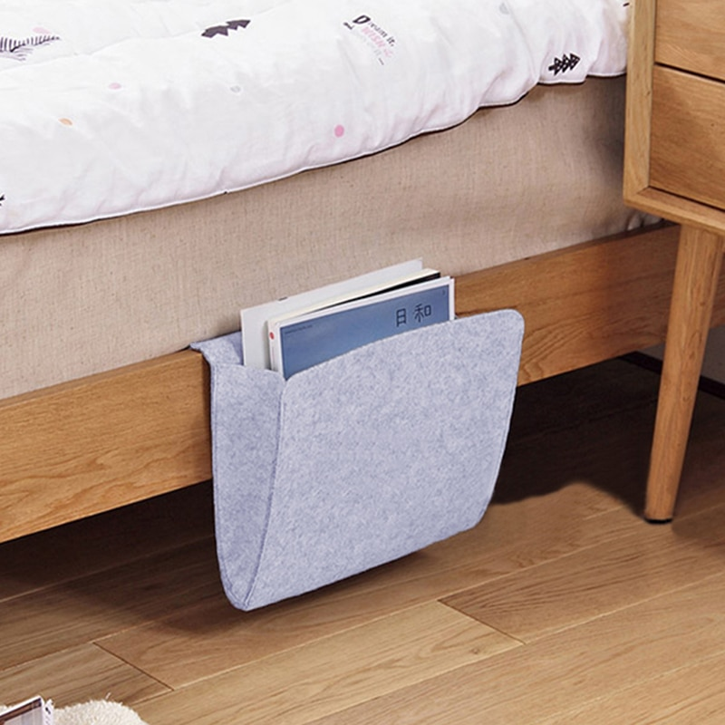 Bolsa de almacenamiento para cabecera de cama de oso bonito, organizador de almacenamiento para dormitorio, bolsa para revista, caja de pañuelos, bolsas de acabado, soporte de pared para teléfono, bolsillo