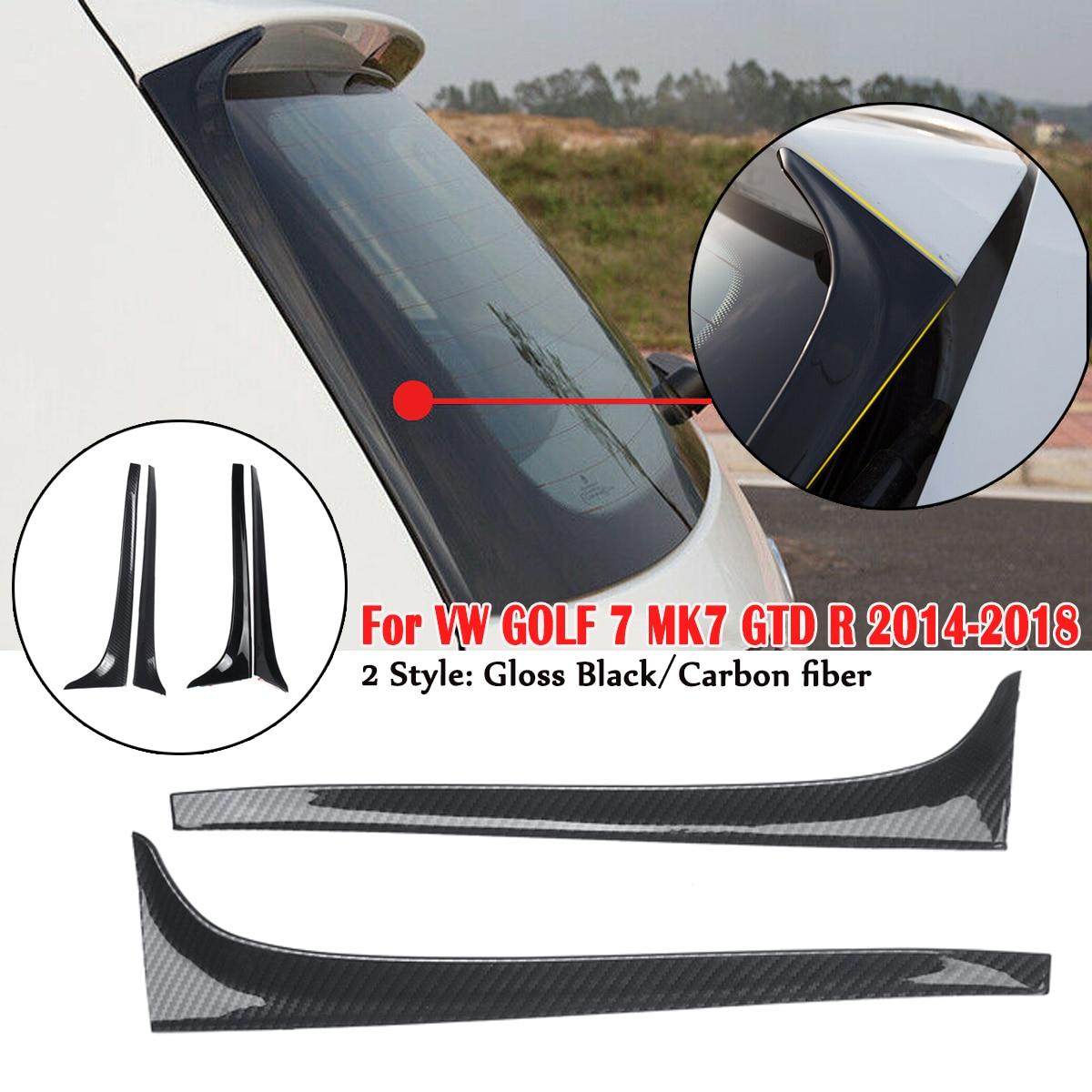 Carbon Fiber Rear Window Side Spoiler Wing For VW GOLF 7 MK7 GTD R 2014-2018 Car-styling Auto Accessories