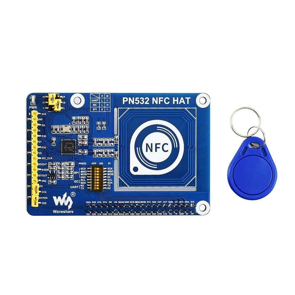 Waveshare I2C PN532 NFC CHAPÉU para Raspberry Pi/SPI/interfaces de comunicação UART 3.3 V/5 V