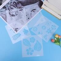 reusable stencil diy scrapbooking stencil airbrush painting art scrap booking album crafts plastic relief flower shaped