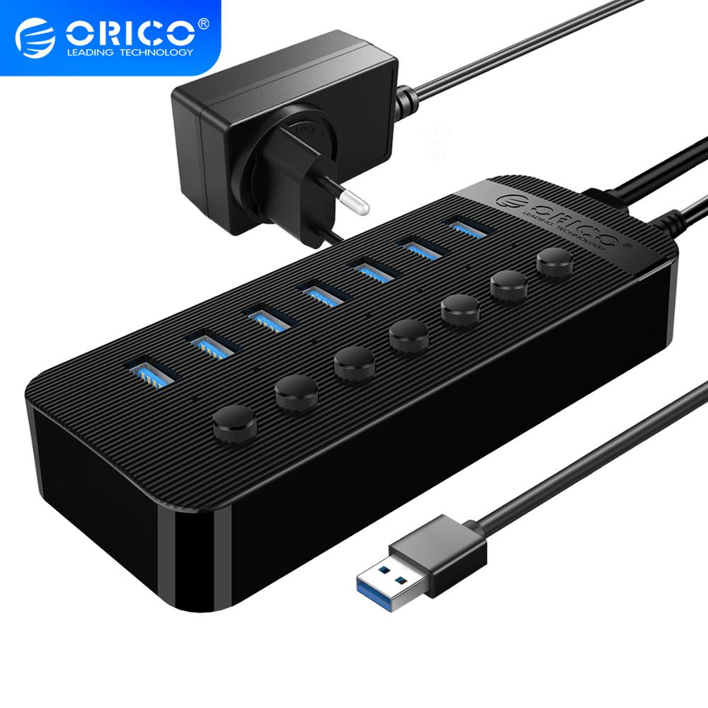 sipolar usb 10 port hub 2 0 charger with 12v 10a power adapter data transfer syncs and charging for cryptocurrency miners a 400 ORICO 7 Port Powered USB 3.0 HUB BC1.2 Charger Splitter With Individual On/Off Switches and 12V/2A Power Adapter For PC Computer