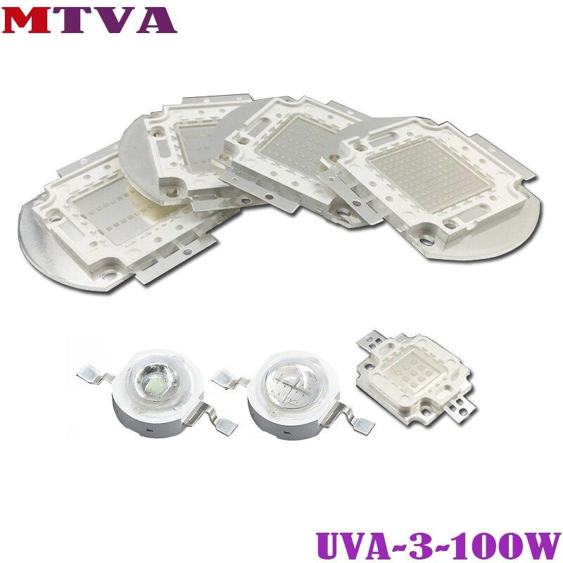 UV de Puissance élevée de La Puce 3W 5W 10W 20W 30W 50W 100 W 365nm 375nm 385nm 395nm 400nm 405nm 425nm Pour 3 5 10 20 30 50 100 W COB Lumière UVA