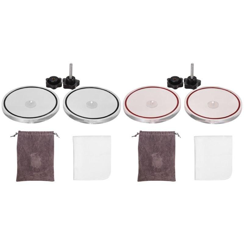Registro de Vinil Vinil LP Record Cleaner Clamp Lable Saver Protetor de Acrílico À Prova D Água Ferramenta de Limpeza