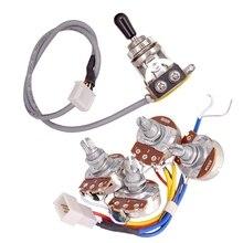 Lp электрогитары звукосниматели цепи жгут проводов 2T2V 500K Горшки 3 позиционный переключатель для Gibson Les Paul Стиль гитары
