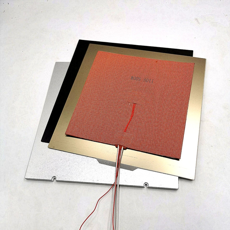 Funssor 1 مجموعة Voron 2.4 طابعة ثلاثية الأبعاد MIC6 الألومنيوم بناء لوحة PEI ساخنة السرير سخان سيليكون 110/220 فولت 250/300/350 مللي متر حجم