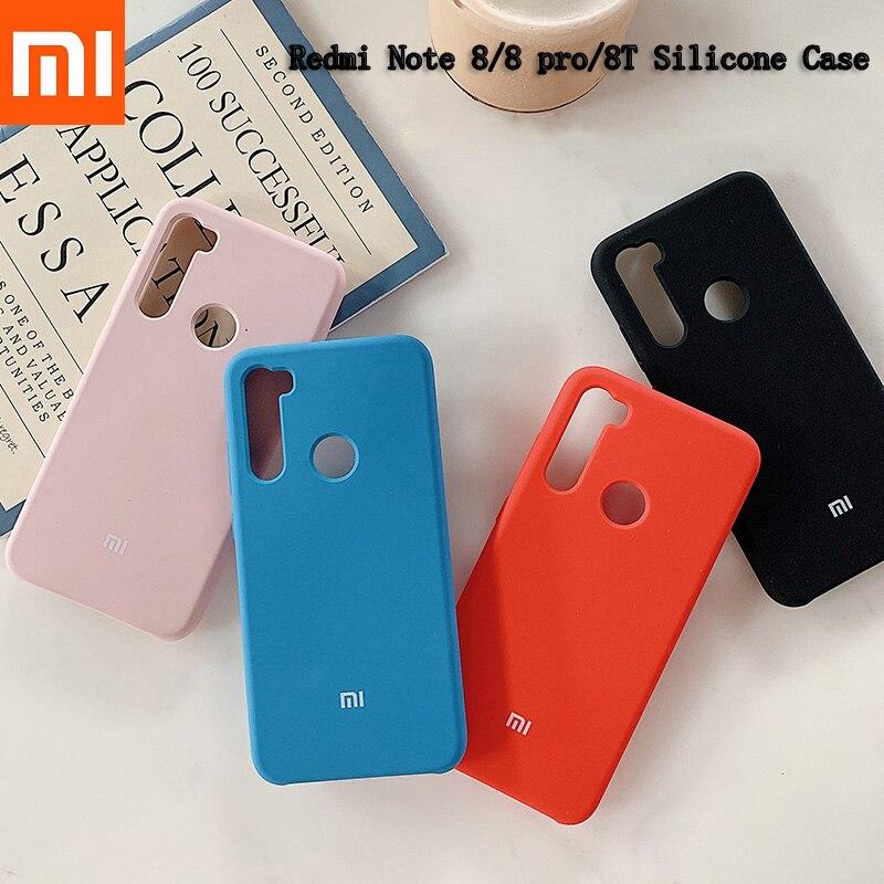 Original Redmi Note 8 Pro Note 8T, funda de silicona líquida de TPU suave, carcasa protectora trasera de teléfono móvil para Redmi Note 8 PRO 8T