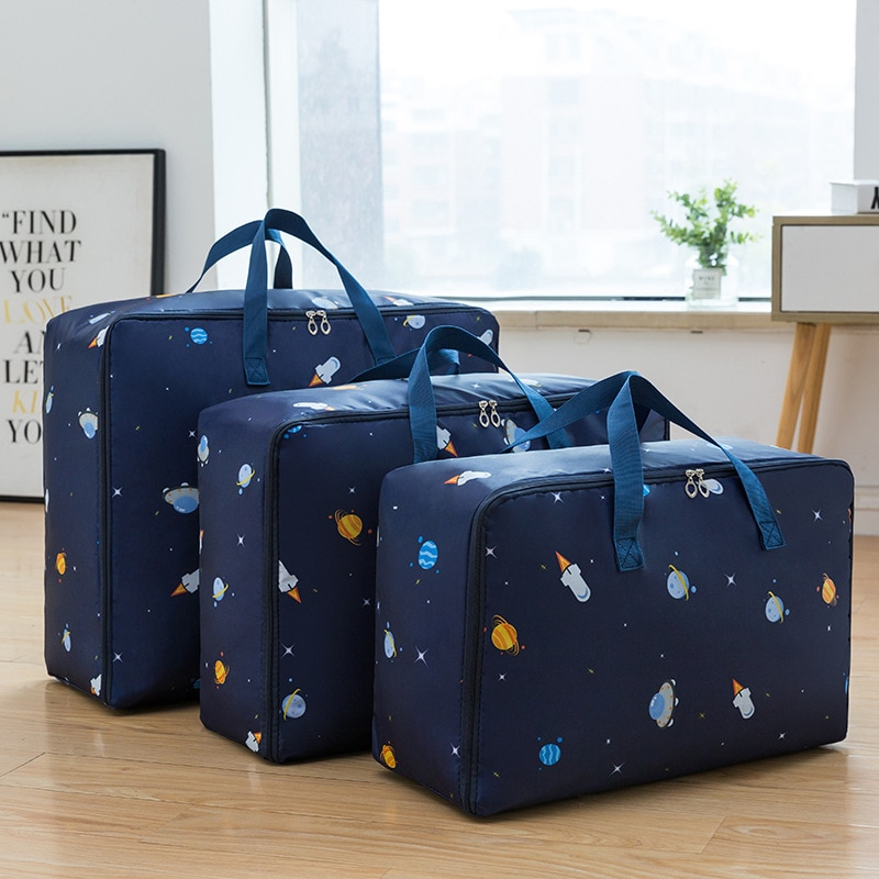 طوي أكسفورد حقيبة التخزين الملابس بطانية لحاف خزانة سترة المنظم صندوق الحقائب موضة بيع الملابس منظم خزانة