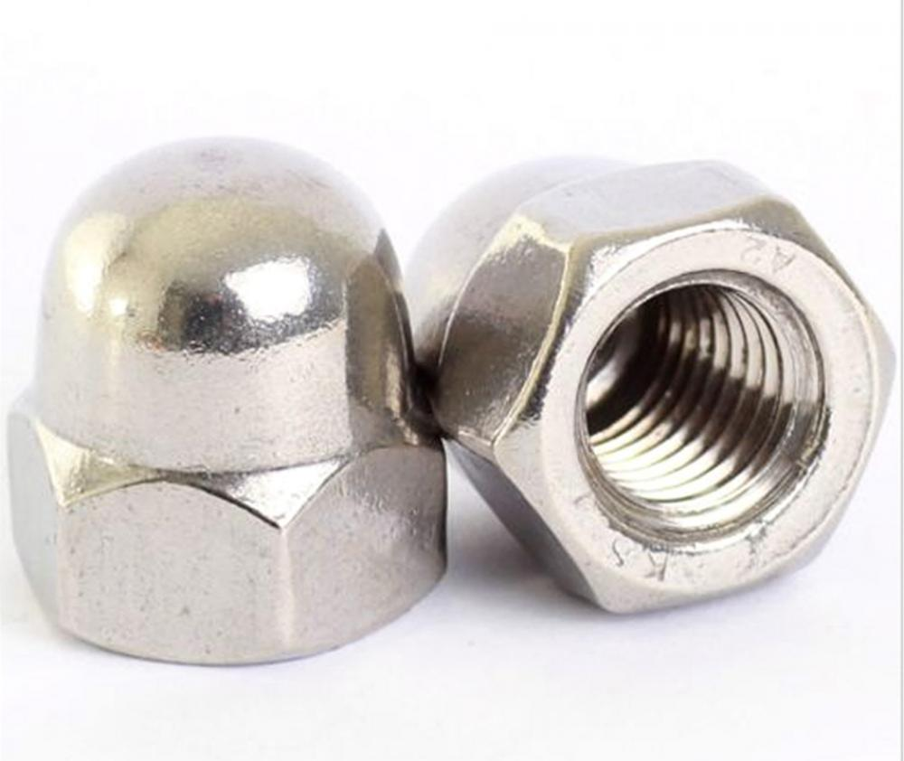 10Xpcs/lot  M10 Dome Nuts 10mm A2 Stainless Steel NUT