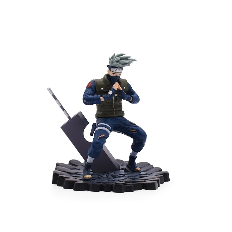 model fans inflames toys naruto 30cm height 1 6 hatake kakashi contain two head action figure toy for collection Anime Naruto Figure Hatake Kakashi PVC Action Figure Doll Collectible Model Baby Toy Christmas Gift For Children 13cm