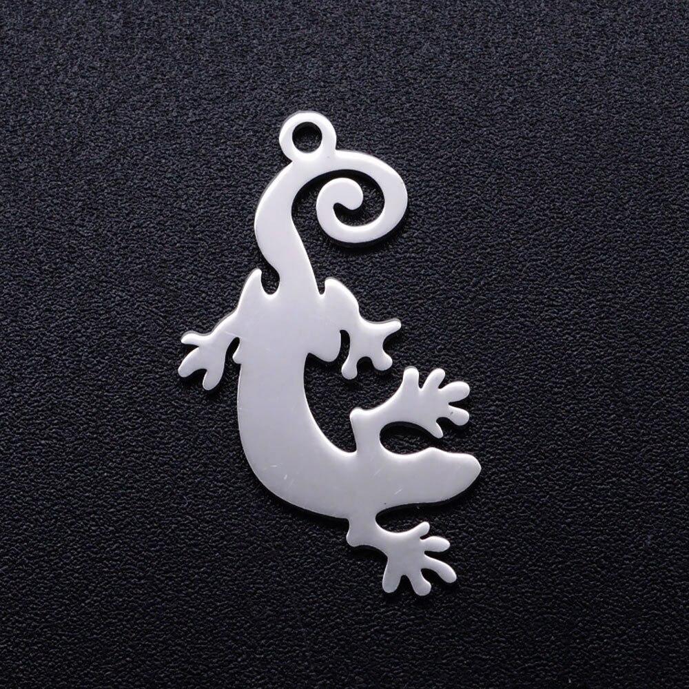 5 teile/los Einzigartige Lizard Edelstahl DIY Charme Großhandel OEM Charme Akzeptiert Schmuck Machen Charme