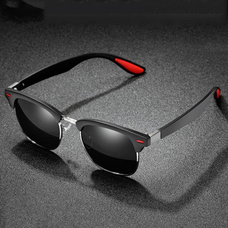 Semi Rimless Polarized Sunglasses For Men Women Travel Glasses Vintage Lunettes Shades Retro Mirror