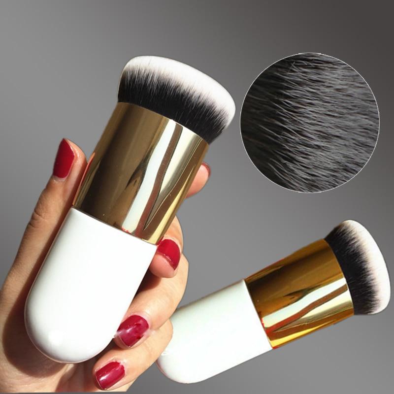 6 colores profesional Chubby Pier Fundación pincel de maquillaje de crema de maquillaje cepillos cosmético profesional cepillo de maquillaje