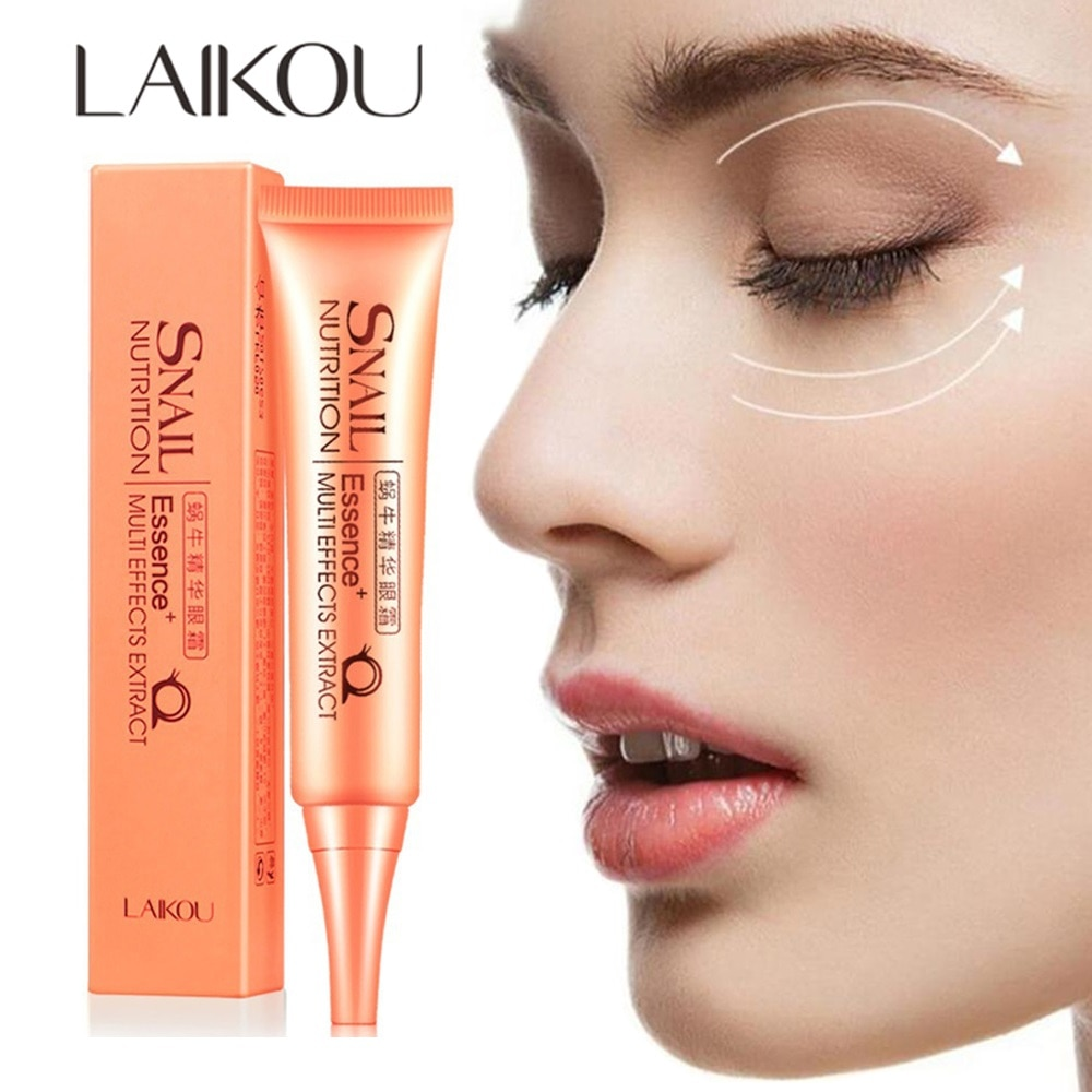 LAIKOU Snail Lift reafirmante crema de esencia para los ojos hidratante antiedad suero para los ojos ojeras bolsas para los ojos reparación cuidado de los ojos 30g