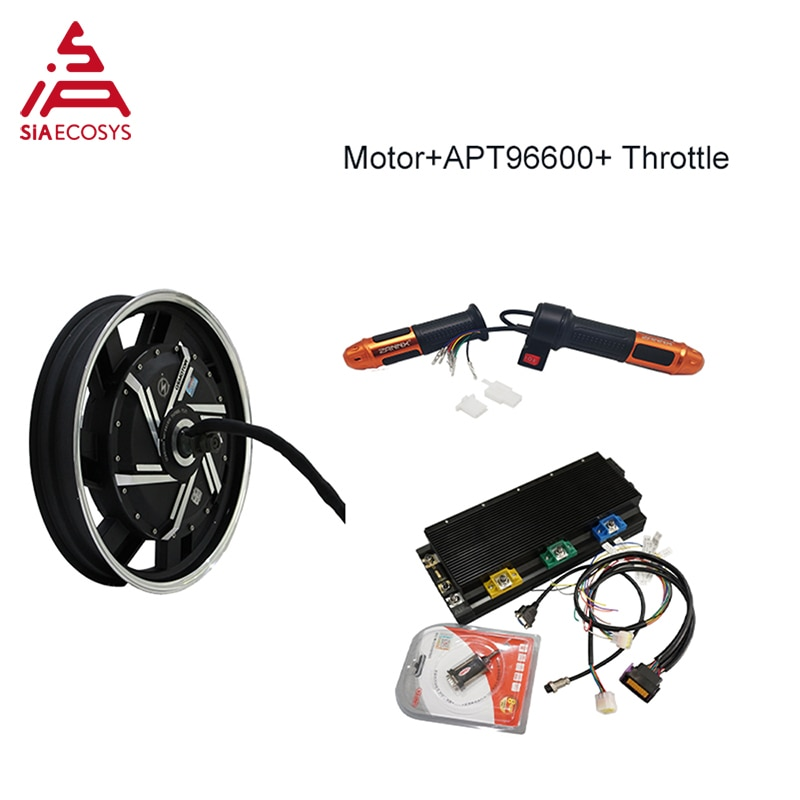 QS Motor 17inch 8000W Electric Motorcycle Kit / E Motorcycle Kit / Electric Motorcycle Conversion Kit(Match with APT controller)