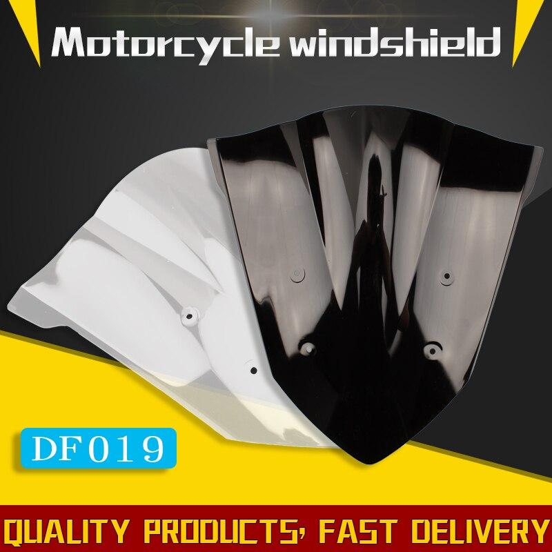Para Honda CBR650F CBR 650F CBR 650 F 2014 2015 2016 2017 negro parabrisas de la motocicleta doble burbuja CBR650 14 15 16 17