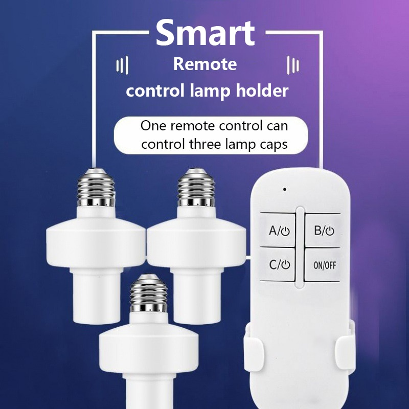 WiFi Smart Light Bulb Adapter Lamp Holder Base AC Smart Home Life/Tuya Wireless Voice Remote Control With Alexa Google Home E27
