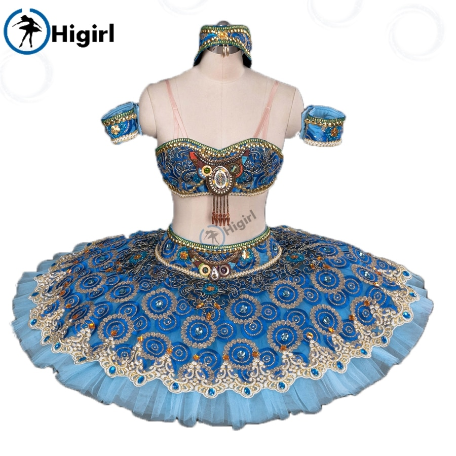 Azul split pirata ballet tutu adulto ballet trajes de palco nutcracker tutu azul panqueca ballet tutu bt9057a