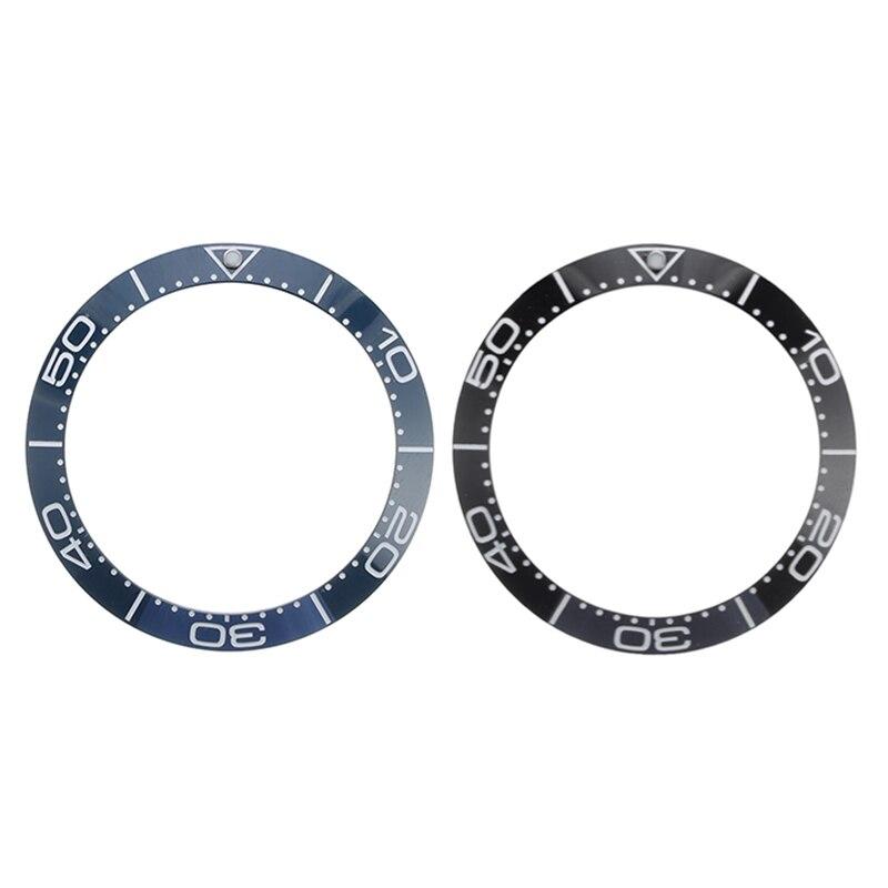Neue 38mm Schwarz Blau Keramik Lünette Einsatz Für 40mm Submariner Herren Uhr Uhren Ersetzen Zubehör Uhr Gesicht Für seiko Omega