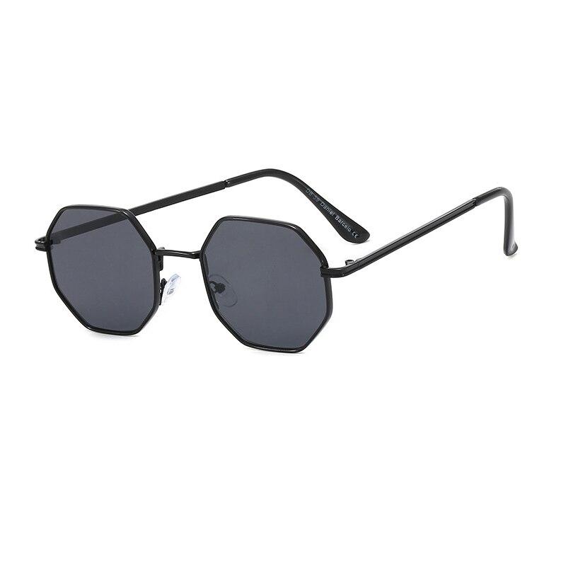 2020 nova Marca de Luxo Polígono Mulher Óculos De Metal Óculos De Sol Dos Homens de Design Da Marca Óculos de Sol Da Moda Tendência