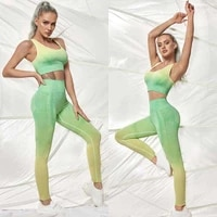 ombre seamless yoga set fitness sportswear suits workout clothes for women bra and leggings gym set sports outfit ombre legging