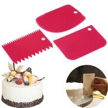 3 Stks/partij Deeg Cake Cutter Slicer Spatel Voor Cake Schraper Diy Schraper Pasteuze Cutters Schraper Onregelmatige Tanden Rand