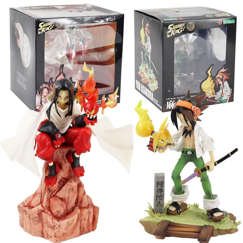 17-24cm artfx j anime xamã rei yoh asakura e hao 1/8 escala pvc figura de ação collectible modelo boneca brinquedos presente