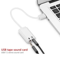7 1 external usb audio sound card usb to jack 3 5mm headphone audio adapter with cable microphone sound card for laptop notebook