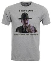 Gunnery Sargent Hartman Drill Instructor Demotivational Mens Tshirt Tee Top AD60