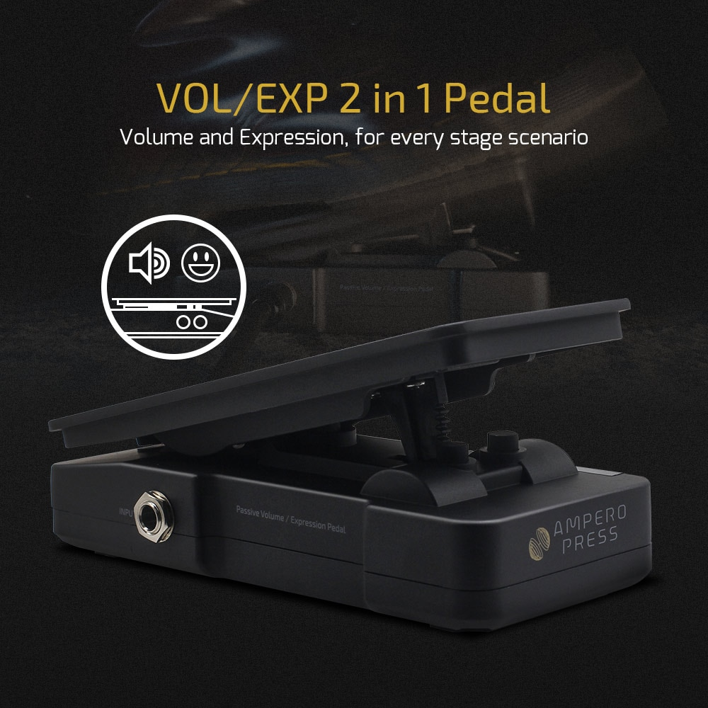 Hotone Ampero Press 2 in 1 Passive Volume Expression Control EXP Pedal with External EXP Jacks General for Other Music Devices enlarge