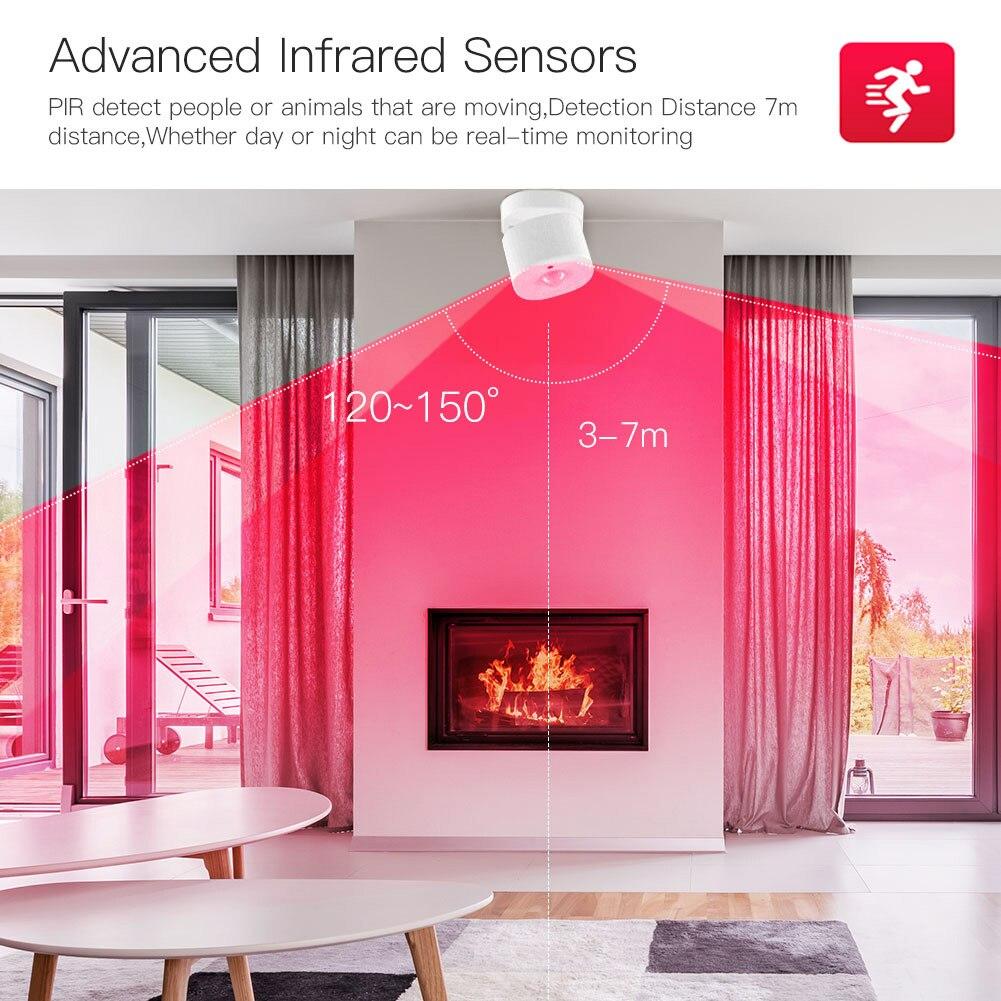 White Smart PIR Motion Sensor Tuya ZigBee Wireless Motion Sensor PIR Detector Home Security Alarm System Building Automation