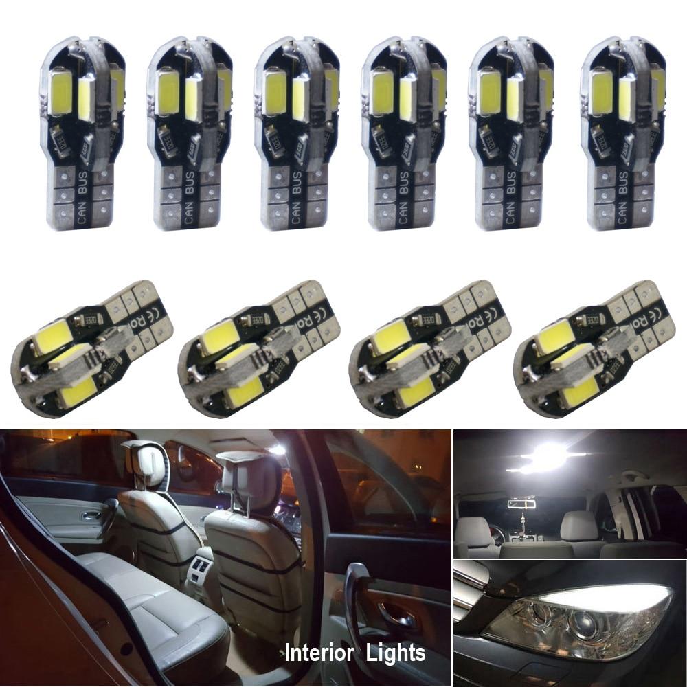 10x T10 W5W 194 LED Canbus 電球インテリアライト kit モンデオ MK3 MK4 フォーカス 2 MK2 フィエスタ融合レンジャー c-max S-max 久我 F150