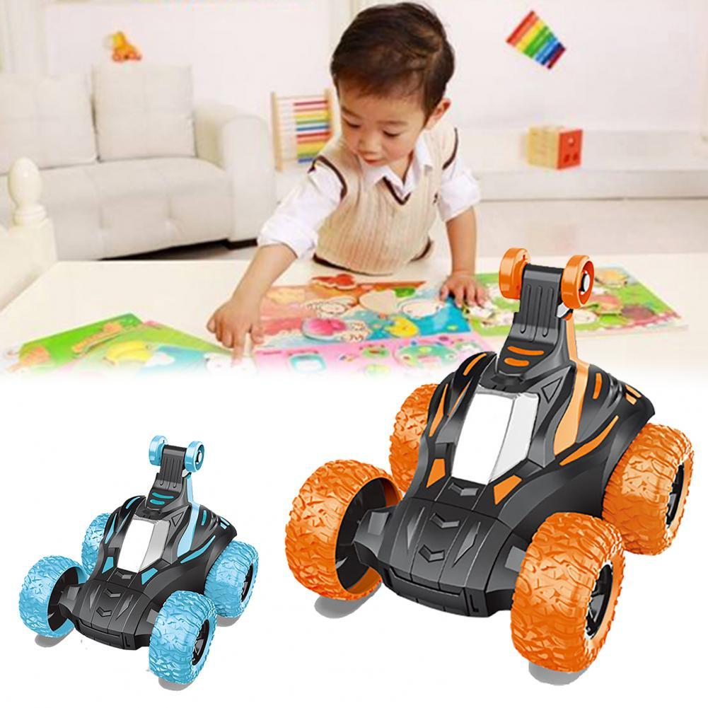 Dump Truck 360 Degree Rotating Children Gift Plastic Cement Light Concert Rollover Truck Toy for Interactive Play automatic 360 degree rotating laser light cat interactive toy