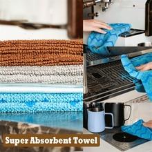 Toalla súper absorbente de 4 colores, toalla de Barista, barra de trapo, máquina de café, paño de limpieza, toallitas de limpieza para el hogar, utensilios de cocina