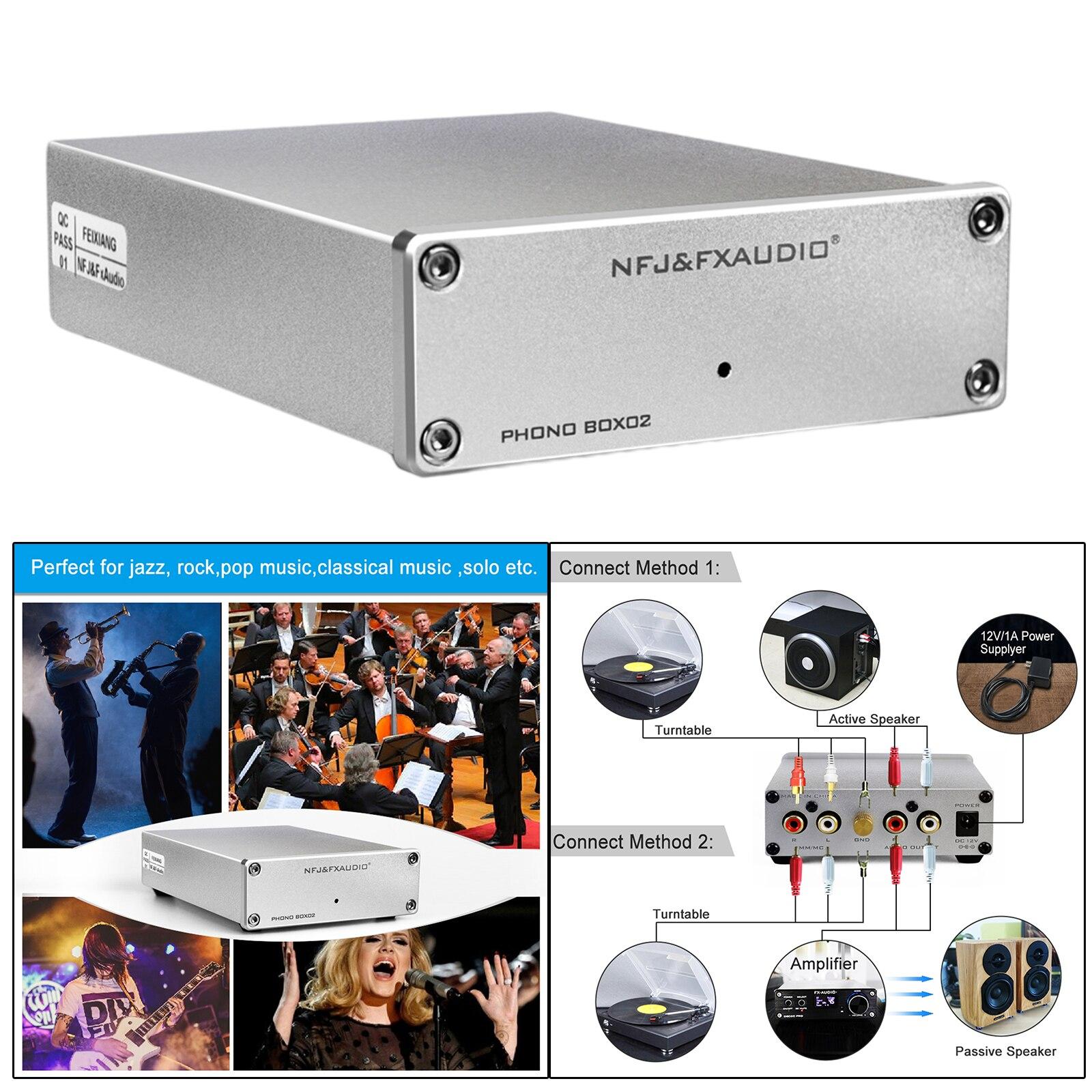 فونو Preamp صوت صغير ستيريو الفونوغراف Preamplifier مع RCA المدخلات RCA الإخراج ث/مم و MC المدمجة