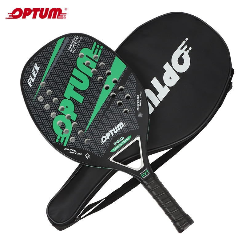 OPTUM FLEX Carbon Fiber Beach Tennis Racket with Cover Bag