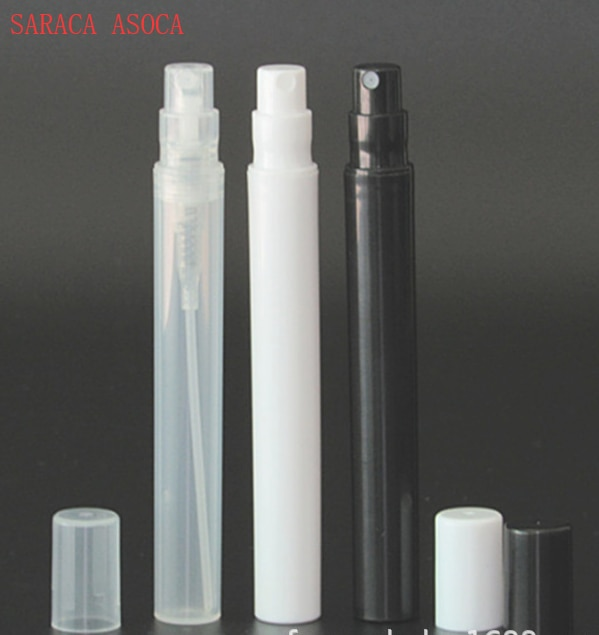 5ml blanco negro transparente botellas de Perfume de plástico transparente bayoneta cuello pequeña pluma de perfume