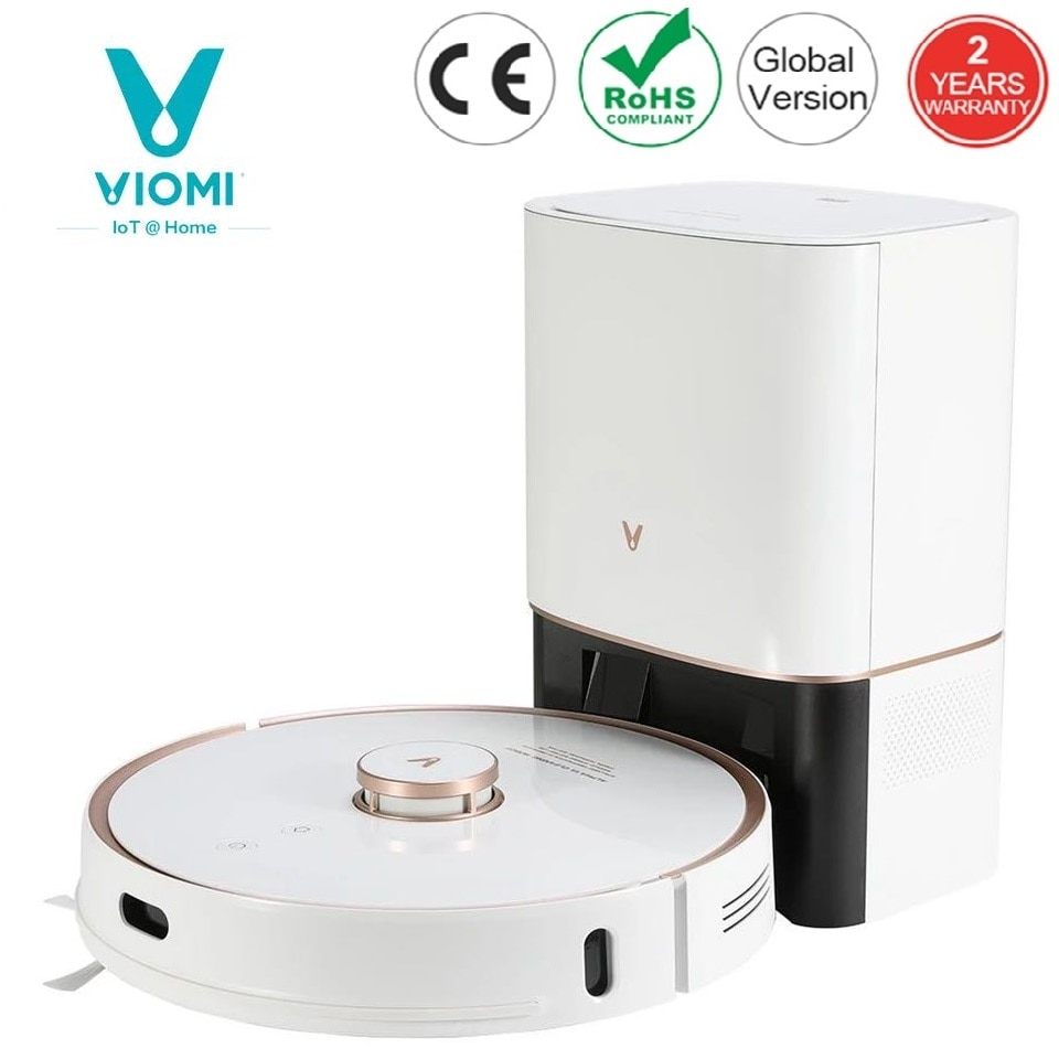 VIOMI S9 Robot Vacuum Cleaner With 950W Intelligent Auto Dust Collection LED Display 2700Pa Floor Carpet Sweeping and Mopping